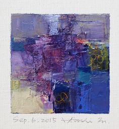 Sep. 6, 2015  Oil on canvas  9 cm x 9 cm  © 2015 Hiroshi Matsumoto www.hiroshimatsumoto.com