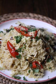 Millet Salad with Roasted Fennel and Tomatoes #sensationalsides | Feed Me Phoebe