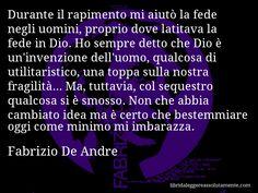 Cartolina con aforisma di Fabrizio De Andre (38)