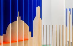 On parts of the #structure a #silhouette of a fragmented #skyline has been applied. In this photo you can see a close up of St Paul #cathedral as a part of the skyline for the #London themed #pavilion.  #architecture #archdaily #nextarch #studio #lasercutting #cutterguide #sundaestudio #fluoro #wood #flatpack #pattern #patternity #patterndesign #patternmaking by sundae__studio