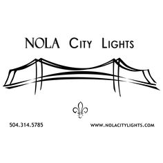 A custom logo I created for a business in New Orleans, LA