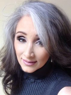 Gray Wigs African Americans Gray Away Light Brown Natural Henna For Grey Hair Natural Henna For Grey Hair Grey Hair Don't Care, Grey Ombre Hair, Long Gray Hair, Grey Wig, Silver Grey Hair, Ombre Brown, White Hair, Mother Of The Groom Hairstyles, Hairstyles Over 50