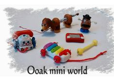 Toy story micro miniature sculpt set dolls house 12 scale. Furniture accessories for children's bed room film characters Disney polymer clay