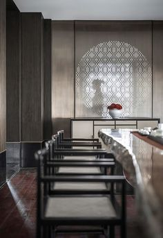 Han Shang Lou Restaurant by Jingu Phoenix Space Planning Organization Oriental Restaurant, Chinese Restaurant, Cafe Restaurant, Restaurant Design, Asian Interior Design, Chinese Interior, New Chinese, Chinese Style, Shanghai