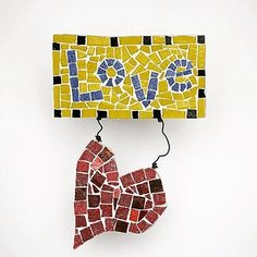 It's 55 and raining in Miami today, and the news in our country is just as bleak. So I'm in the studio, in my happy place, getting inventory ready for this week's Valentine's Day sale. Our entire shop, including this LOVE wall art and our newest collection of heart paperweights, will be on sale. You can sign up for our email list which will give subscribers early access to the sale and a bigger discount than everyone else. (Sign-up link in profile.) ❤️💌💋👊🏻#mosaicmadnessstudio…