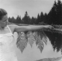 Francesca Woodman  ferns and trees by the lake