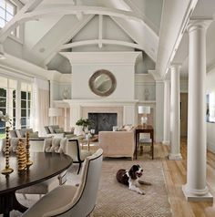 beautiful transitional white and off white traditional living room sisal rug round mirror dining table