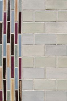 "Mercury Mosaics | 2""x4"" Subway Tile - 815 Light Grey / Stix - 15 Fog Grey, 615 Purple Plum, 132 Jewel Brown, 102 Sage Brush, 822 Mocha Cream, 553 Bronze"