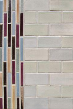 "Mercury Mosaics | 2""x4"" Subway Tile - 815 Light Grey / Stix - 15 Fog Grey, 615 Purple Plum, 132 Jewel Brown, 102 Sage Brush, 822 Mocha Cream, 553 Bronze"