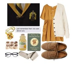"""Hufflepuff"" by annahcat ❤ liked on Polyvore featuring Ollio, Steven Alan, Topshop, Claire Deve, H&M, women's clothing, women, female, woman and misses"