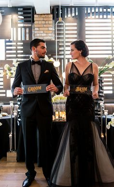 If you are a nontraditional bride, why not try something other than a white dress? A black bridal gown can be extremely elegant and is something different