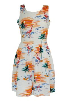 Such a cute playful dress for the weekends, not sure the cut would be good for me though.