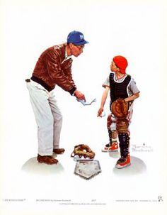 Baseball Norman Rockwell