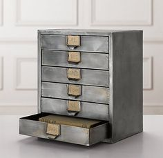 RH, really has this look down pat, no? industrial storage chest.