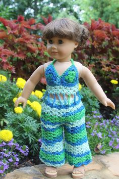 Handmade Crochet 3 Piece Boho Camo Outfit by CreoCrochet on Etsy