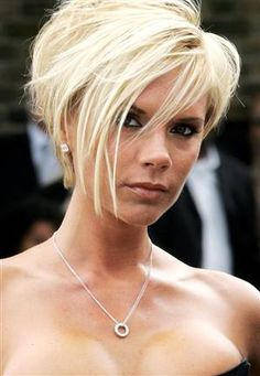 i totally miss this hair color & short fun style on the lovely Victoria Beckham