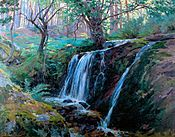 Cascada de La Hiruela año 1921-1923 70 x 90 cm