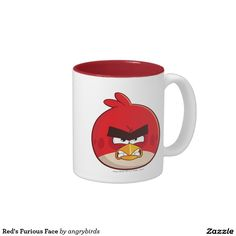 Angry Birds, Red's Furious Face Two-Tone Coffee Mug