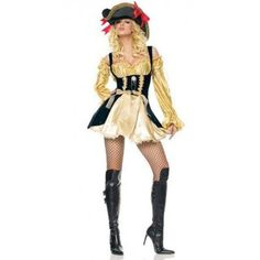 $23.69  Long Sleeve Golden Adult Pirate Costume For Woman