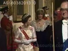 1982 03 16 Prince Charles and Princess Diana attended a State Banquet at Buckingham Palace, held in honour of the Sultan Of Oman