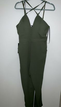 355c1f5e42af bebe olive jumpsuit size 10! New!  fashion  clothing  shoes  accessories