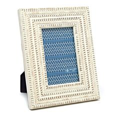 """Distressed White MDF Tabletop Frame, 4"""" x 6"""" in color ."""