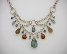 Deco Design Necklace in Silver by augustninedesigns on Etsy