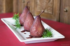 Red Wine Poached Pears recipe and Poached Pear with Mascarpone cheese ...