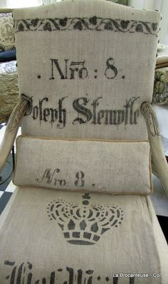 french feed sack chairs