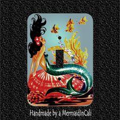 Retro Meyercord Mermaid Switch Plate Covers  by Mermaidincali