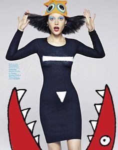visual optimism; fashion editorials, shows, campaigns & more!: electro libre: tatiana cotliar by james macari for grazia france 30th august 2013