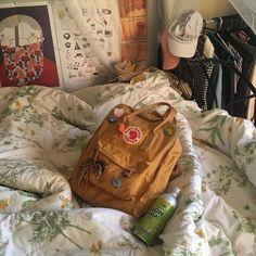 Wheein theme by ( Mochila Kanken, Kanken Backpack, Art Hoe Aesthetic, Aesthetic Bedroom, Red Aesthetic, Yellow Kanken, Aesthetic Backpack, Cute Bags, My Bags