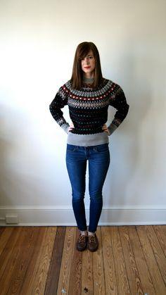 50s Nordic Sweater. Vintage Abercrombie par NewOldFashionVintage
