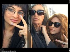 Old lady gang! Kylie, Khloe and Kendalltransformed for a Keeping Up With The Kardashians prank on Friday