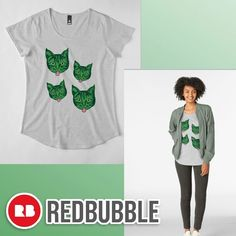 ... 'Green Mollycat' womens premium t-shirt from the Mollycat collection at Redbubble -  -- 👚😸 . . . #greenmollycat #womens #premiumtshirts @redbubble #fashion #clothing #style #summerwear #green #cats #crazycatlady #mollycatfinland #redbubble #artists #creative #designs #catdesigns #caturday #catfashion #redbubblecreate #cooltees #instadesign
