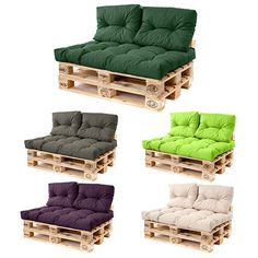 Pallet Sofa Cushions Waterproof Fabric Euro Pallet Size for Outdoor Garden Seats