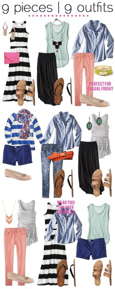 jillggs good life (for less) | a style blog: 9 pieces | 9 outfits
