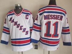 """$34.88 at """"MaryJersey""""(maryjerseyelway@gmail.com) Rangers 11 Mark Messier White CCM Throwback Stitched NHL Jersey"""