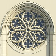 Gothic Rose Window Tracery on Behance More. I like this rose window because it's simple and doesn't have a lot of colors in it. Architecture Windows, Gothic Architecture Drawing, Cathedral Architecture, Architecture Details, Ancient Architecture, Cathedral Windows, Church Windows, Gothic Cathedral, Wow Photo