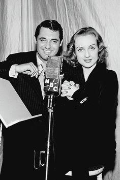 1939 Cary Grant and Carole Lombard at NBC Radio