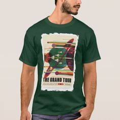 Shop The Grand Tour - Retro NASA Travel Poster Shirt created by UngodlySpeaking. Personalize it with photos & text or purchase as is! Halloween Fairy, Gothic Halloween, Cool Shirts, Tee Shirts, Grand Tour, Travel Posters, Nasa, Shirt Style, Shirt Designs