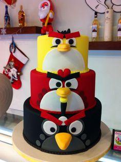 Angry Birds Birthday Cake, Lixoudis Bakery Pastry in Santorini