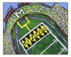 Learn how to paint Faurot Field on Saturday, March 1 at Canvas on Broadway!