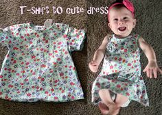 My t-shirt to baby dress re-fashion :)