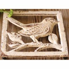 Cream Iron Bird Trivet