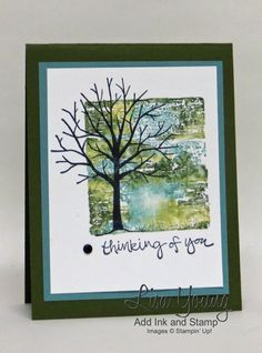 "By Lisa Young, Stampin' Up! ""Sheltering Tree"" stamp set, Block Stamping ..."