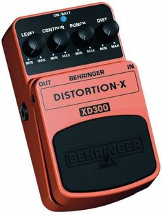Behringer XD300 Thrash Metal Distortion Effects by Behringer. $29.99. BEHRINGER DISTORTION-X XD300 Thrash Metal Distortion Effects Pedal  Rock the world with thrash metal, grunge and hard rock sounds  This BEHRINGER product has been designed to compete head to head with leading products on the market  Provides cutting-edge yet original distortion that makes your guitar sing as well as grind  Dedicated Distortion, Punch, Contour and Level controls for awesome soun...