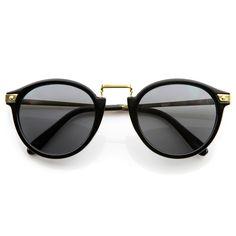 ce2659540bc1 Vintage Inspired Round Horned Rim P-3 Frame Retro Sunglasses
