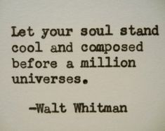 WALT WHITMAN quote typed on a vintage typewriter by PoetryBoutique