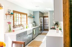 Before and After: A Dark, Dated Galley Kitchen Gets a Modern Makeover